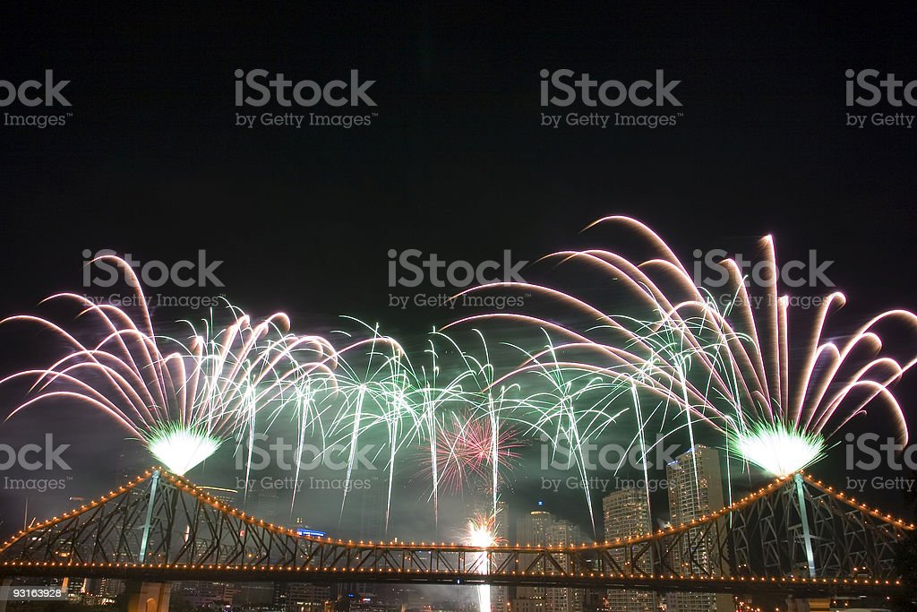 Fireworks with Copyspace royalty-free stock photo