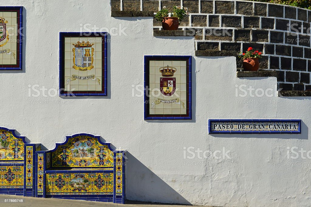 Firgas, Gran Canaria, Spain. stock photo