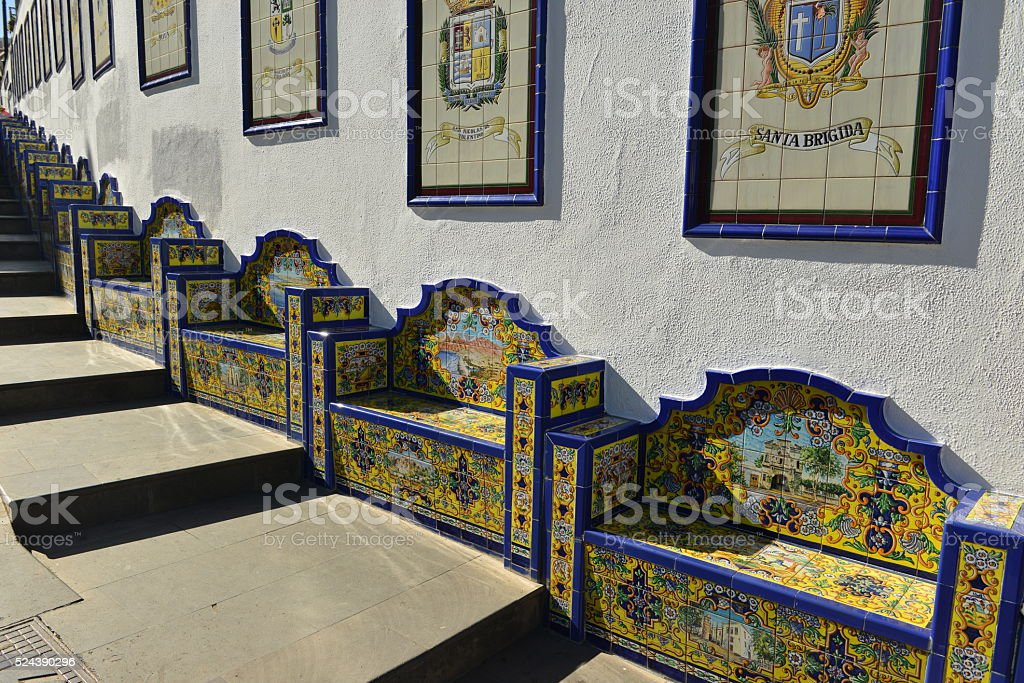 Firgas, Gran Canaria, Spain. stock photo
