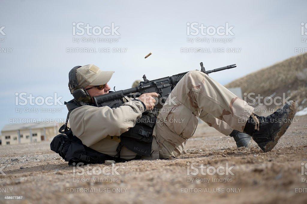 Firing Position stock photo