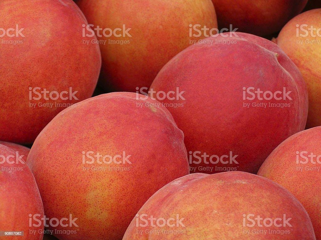 Firm Ripe Peaches stock photo