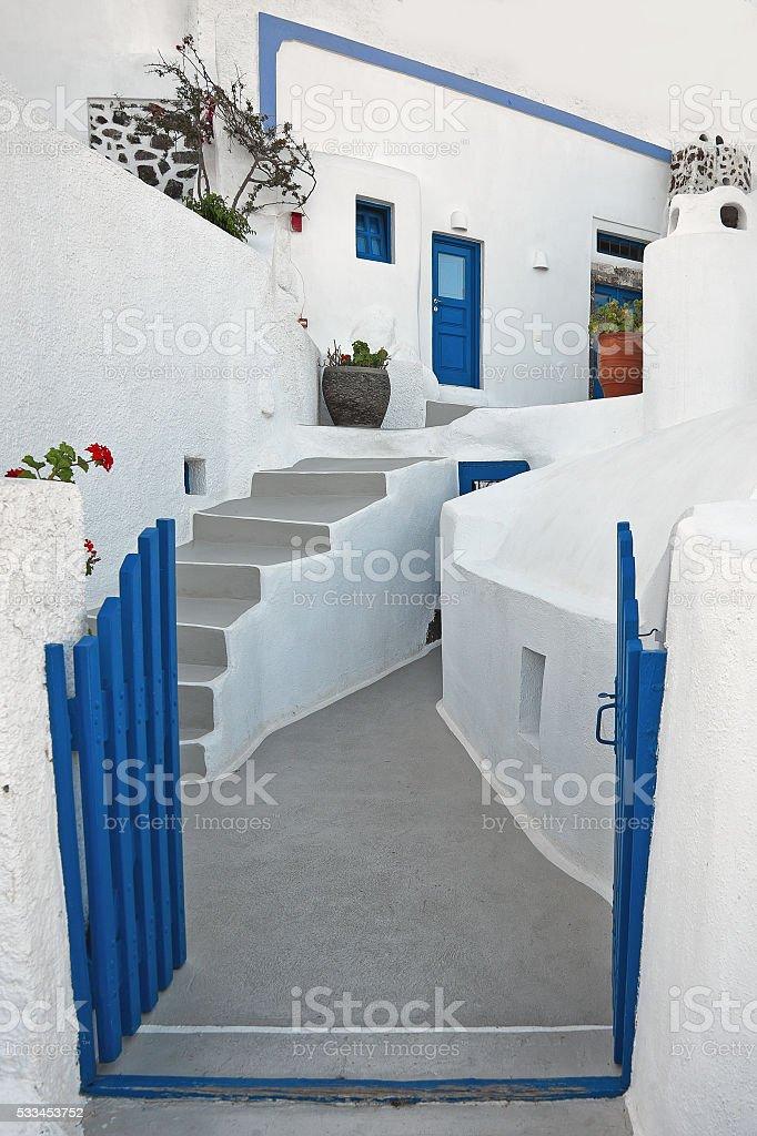 Firostefani, Santorini, Greece stock photo