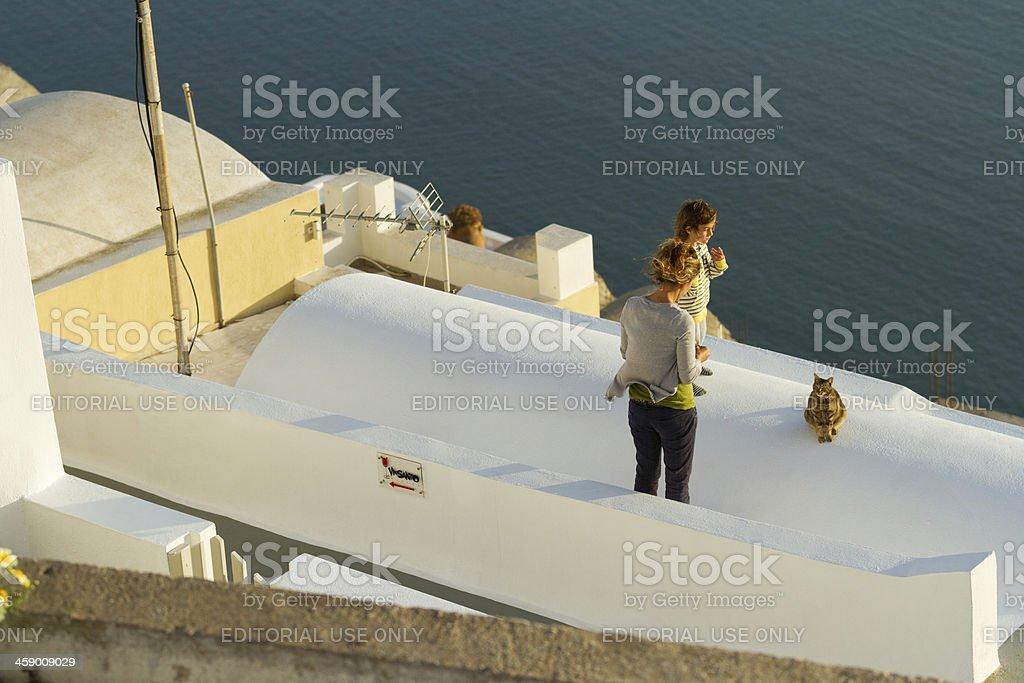 Firostefani, Santorini royalty-free stock photo