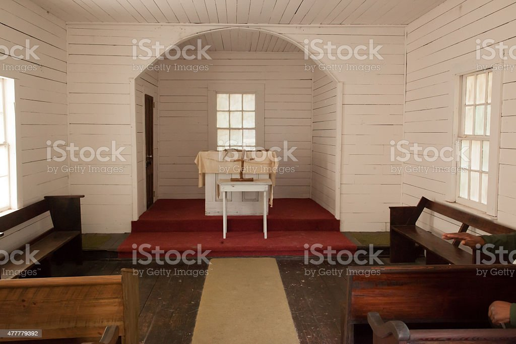 First African Baptist Church, Cumberland Island stock photo