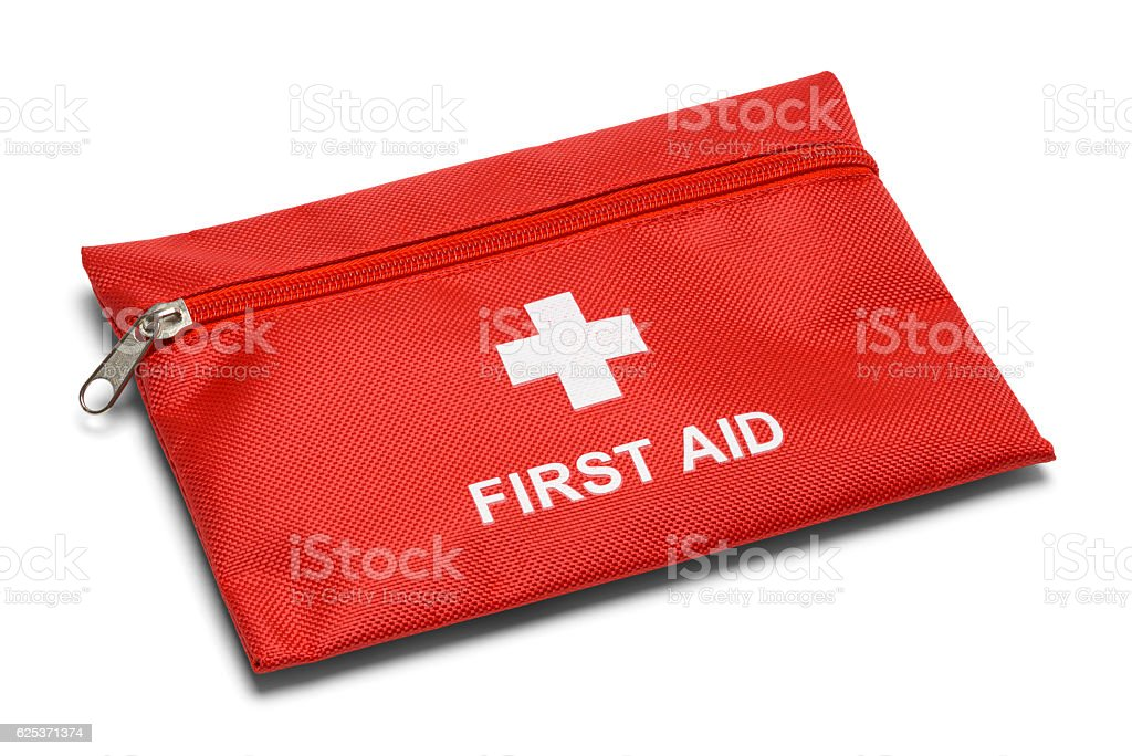 First Aid Bag stock photo