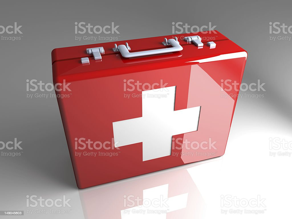 First aid case royalty-free stock photo