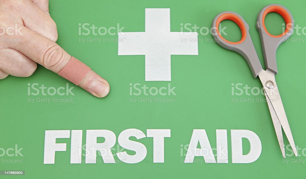 first aid concept stock photo