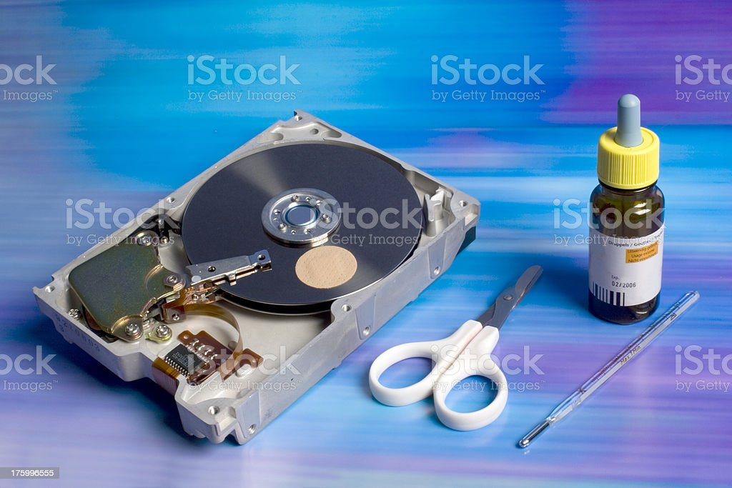 First aid for computer hard disk crash royalty-free stock photo