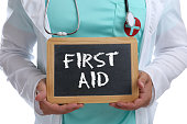 First aid help helping cpr young doctor medical accident