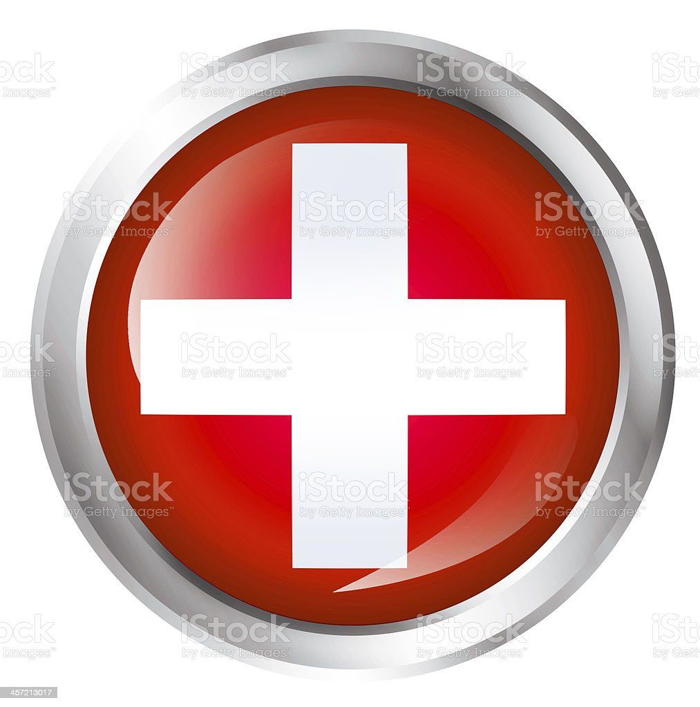 First aid icon in white and red isolated stock photo