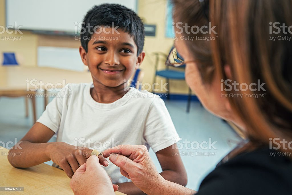 First Aid in the Classroom stock photo