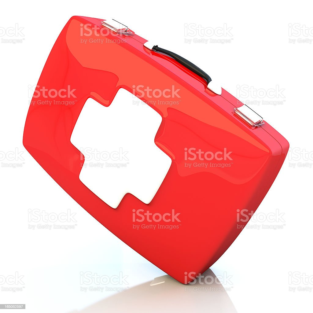 First aid kit isolated on white background royalty-free stock photo