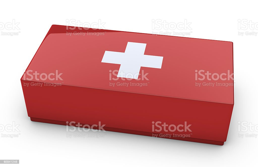First aid kit on white background royalty-free stock photo