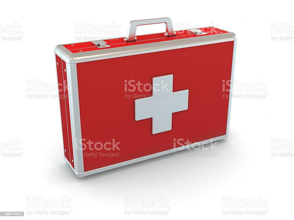 First aid kit. stock photo