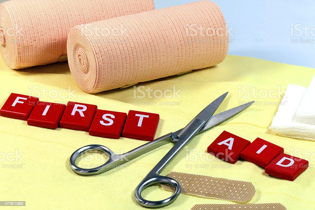 First aid kit. royalty-free stock photo