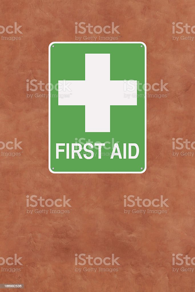 First Aid Sign royalty-free stock photo