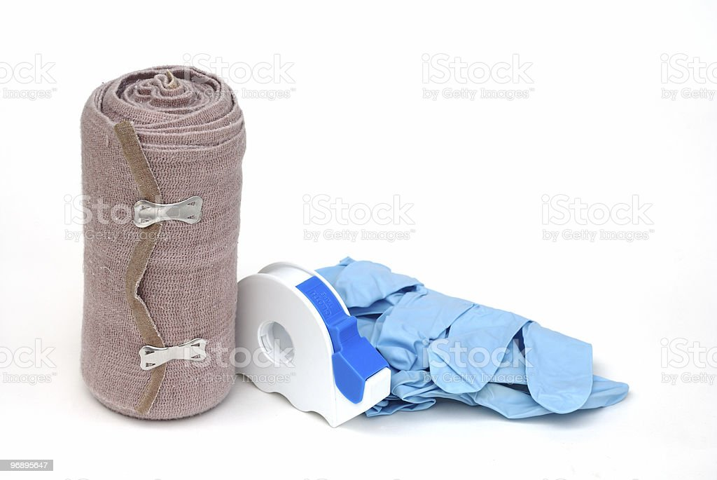 First aid supplies royalty-free stock photo
