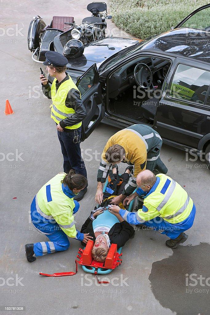 First aid team stock photo