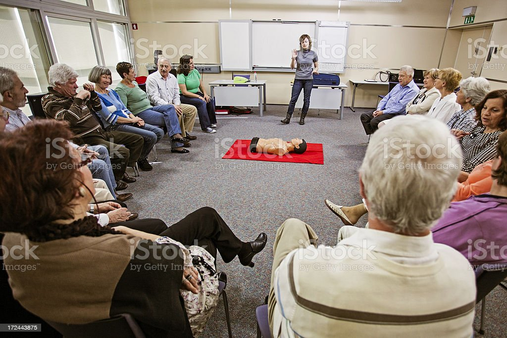 First Aid Training Course royalty-free stock photo