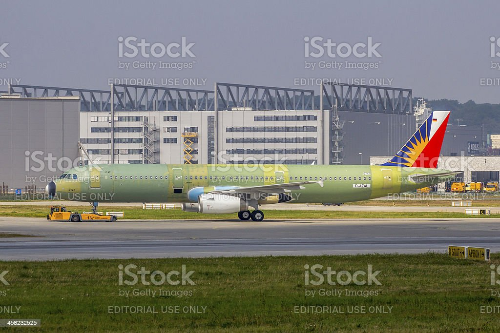 First Airbus A321 for Philippine Airlines unpainted stock photo