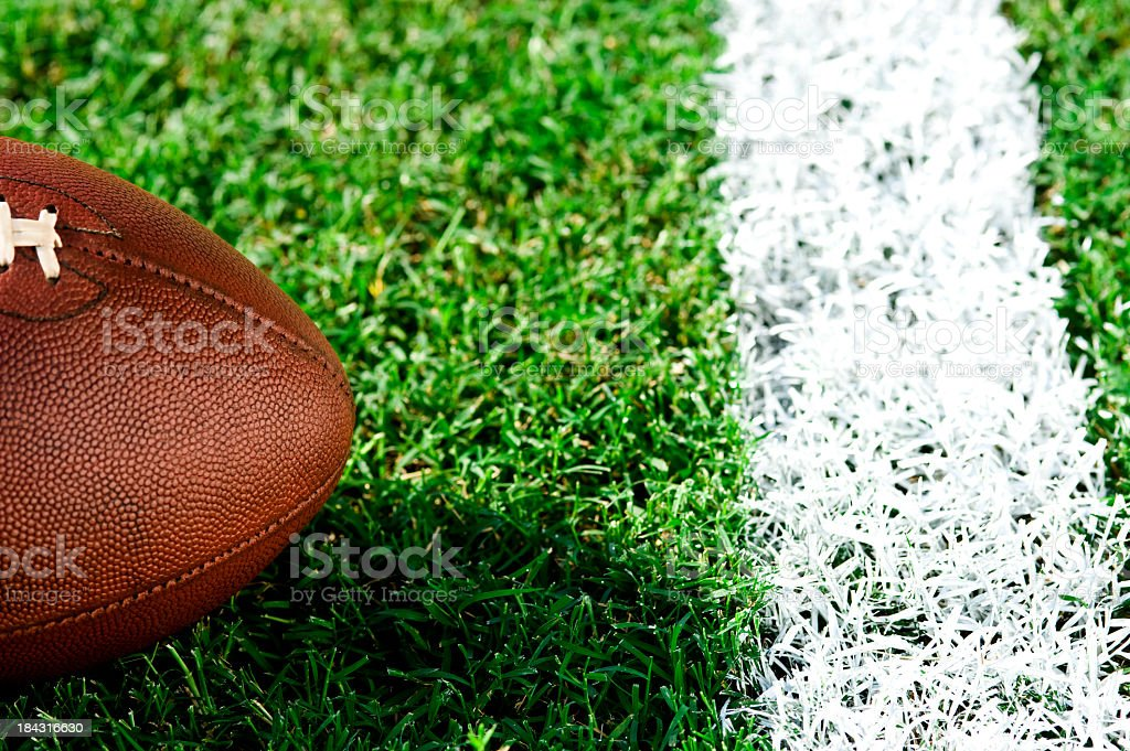 First and goal - American Football stock photo