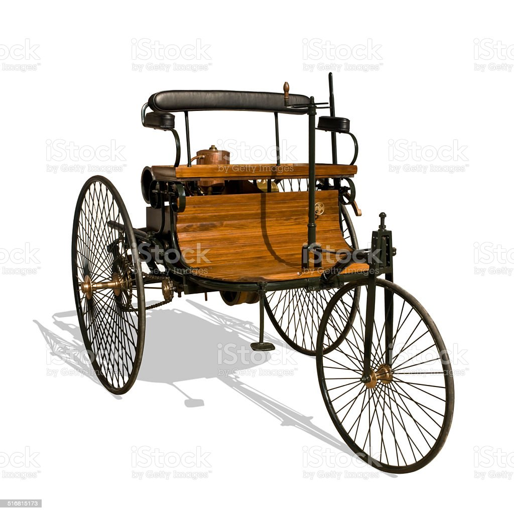 First automobile, Benz Patent Motor Car, 1885/86 stock photo