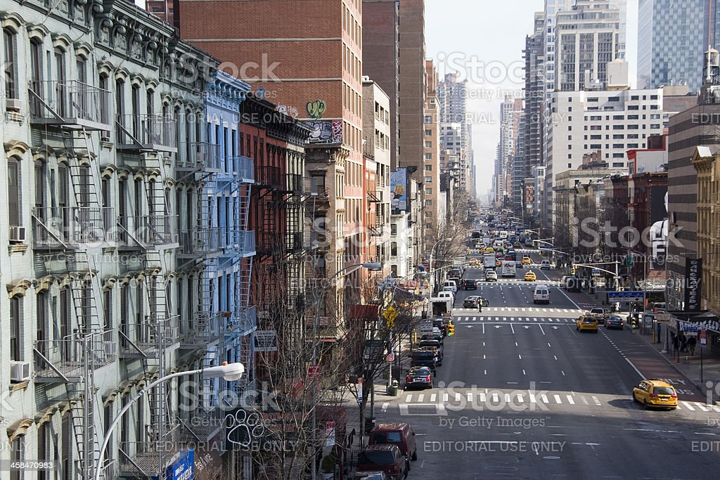 First Avenue, Upper East Side, New York City stock photo