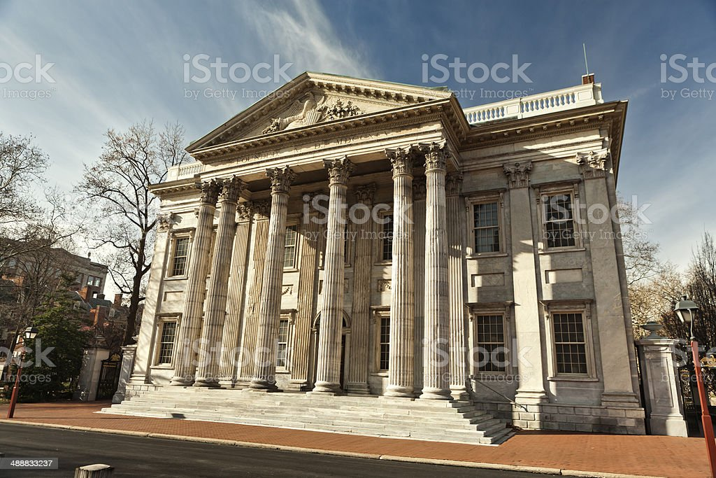 First Bank Building stock photo