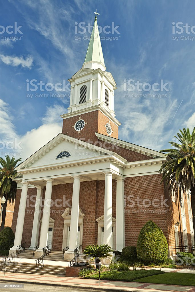 First Baptist Church in Tallahassee FL stock photo