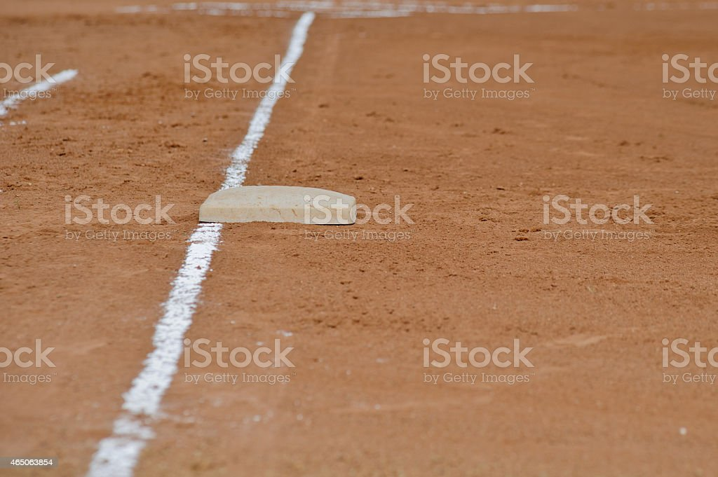 First base foul line stock photo