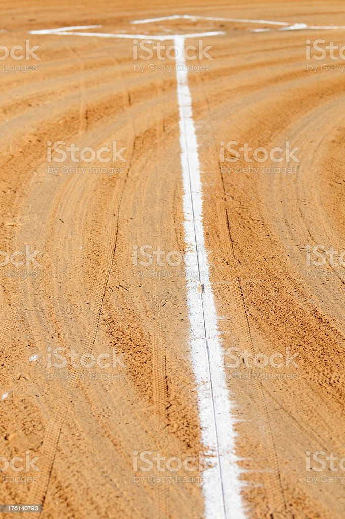 First base line of graded field stock photo