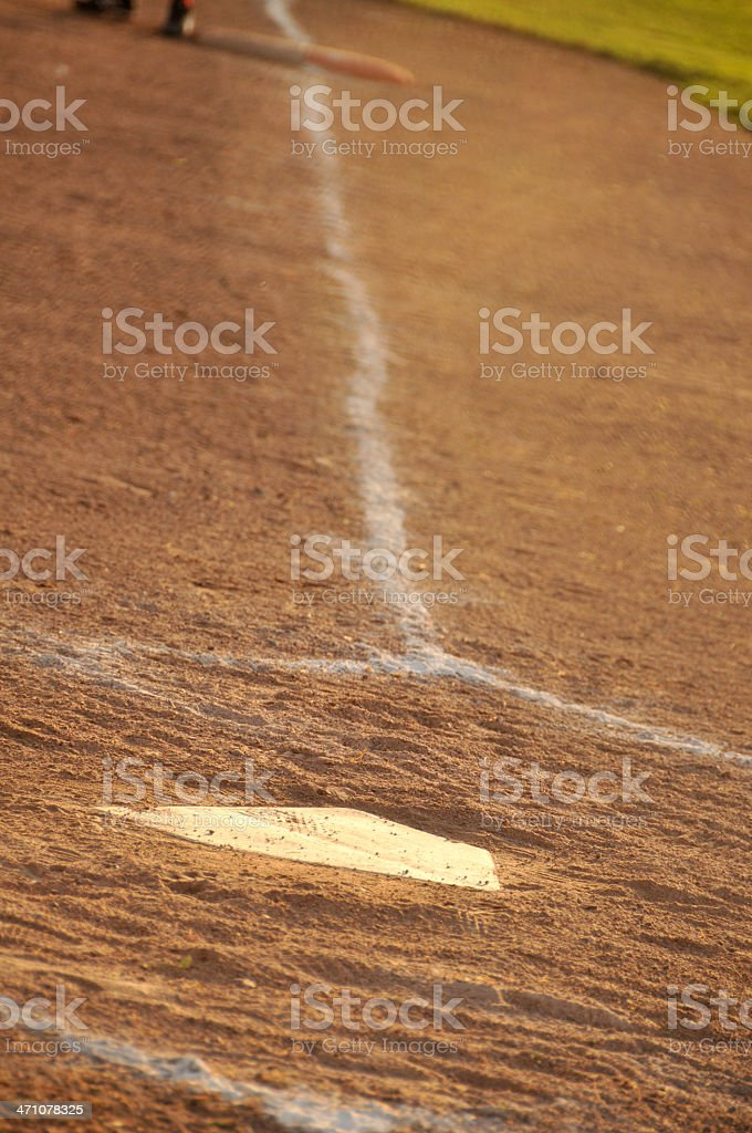 First Base Line royalty-free stock photo