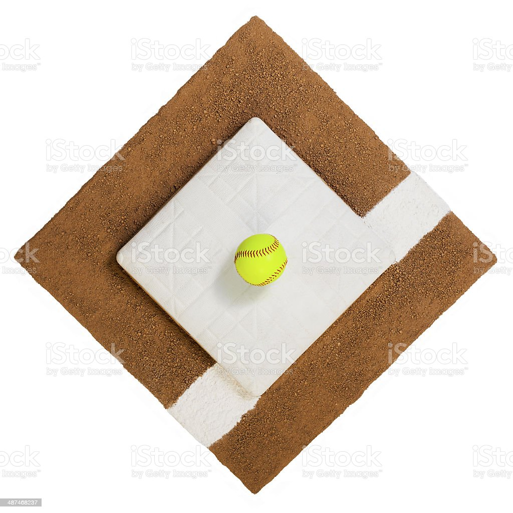 First Base Softball royalty-free stock photo