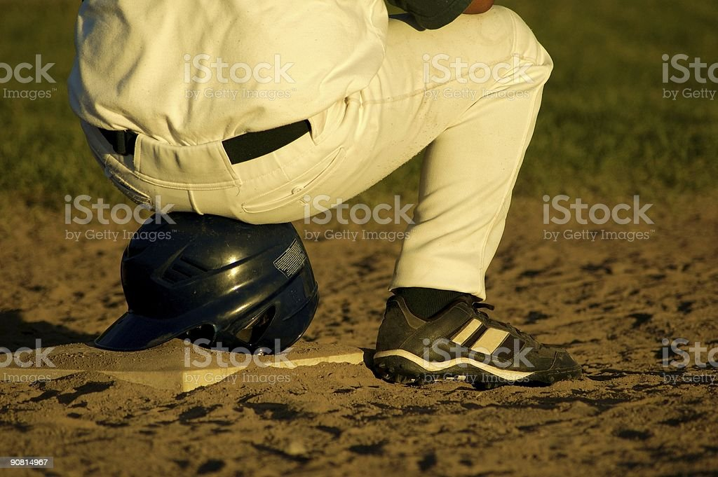 First Base – Time Out royalty-free stock photo