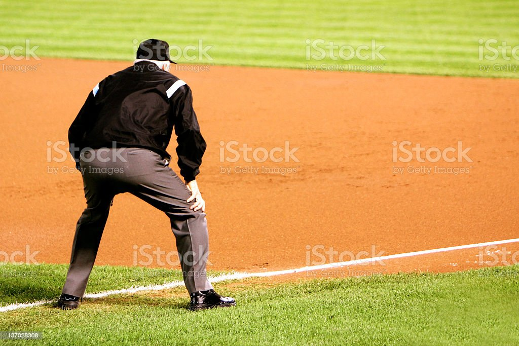 first base umpire stock photo