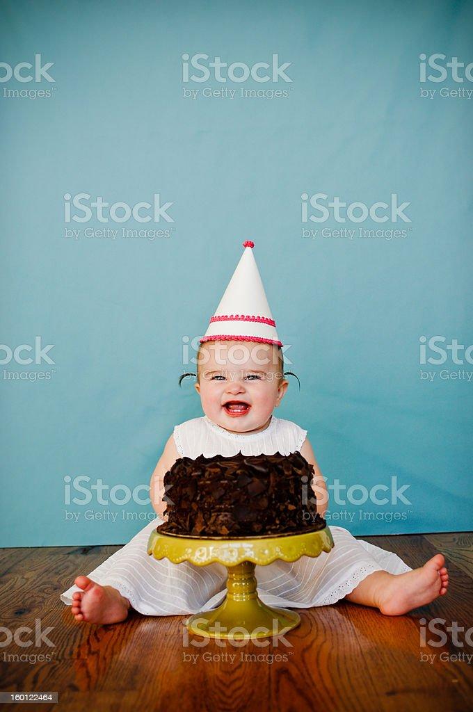 First Birthday Cake stock photo