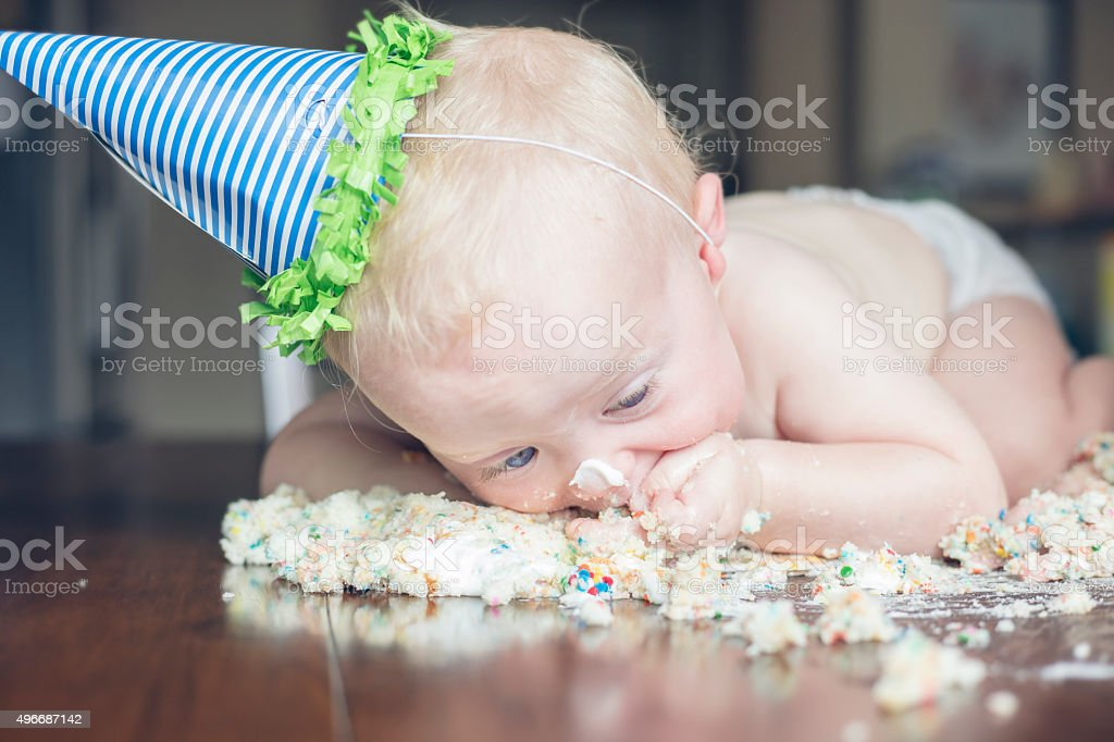 First Birthday Cake stock photo