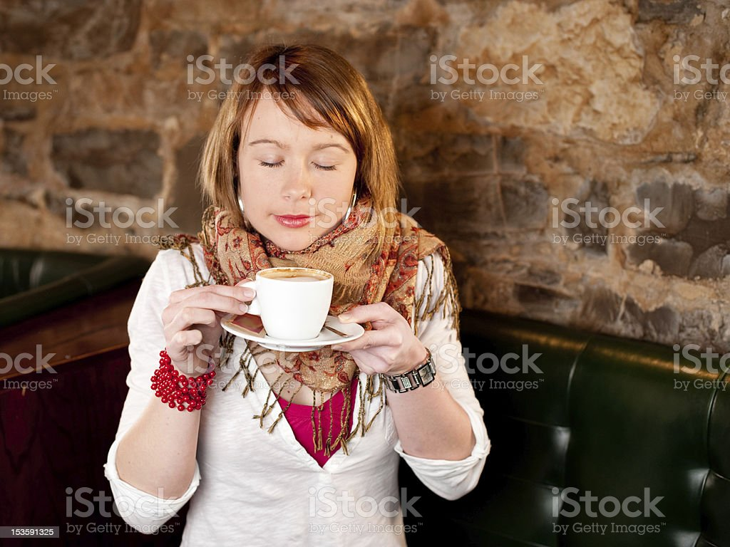 First cappuccino royalty-free stock photo