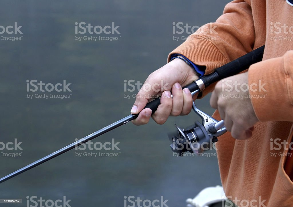 First Cast of the Day royalty-free stock photo