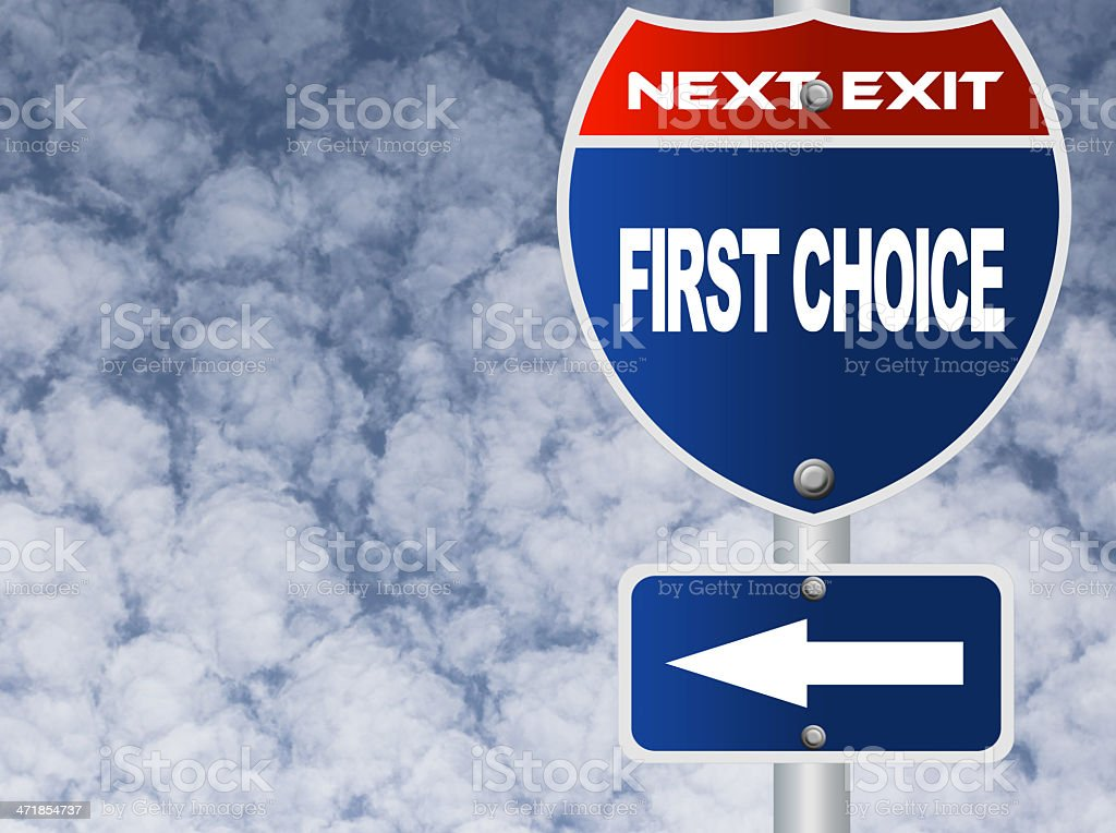 First choice road sign royalty-free stock photo