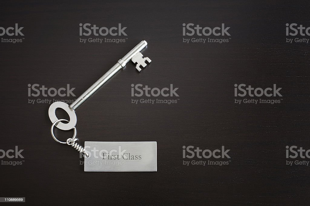 First Class Key royalty-free stock photo