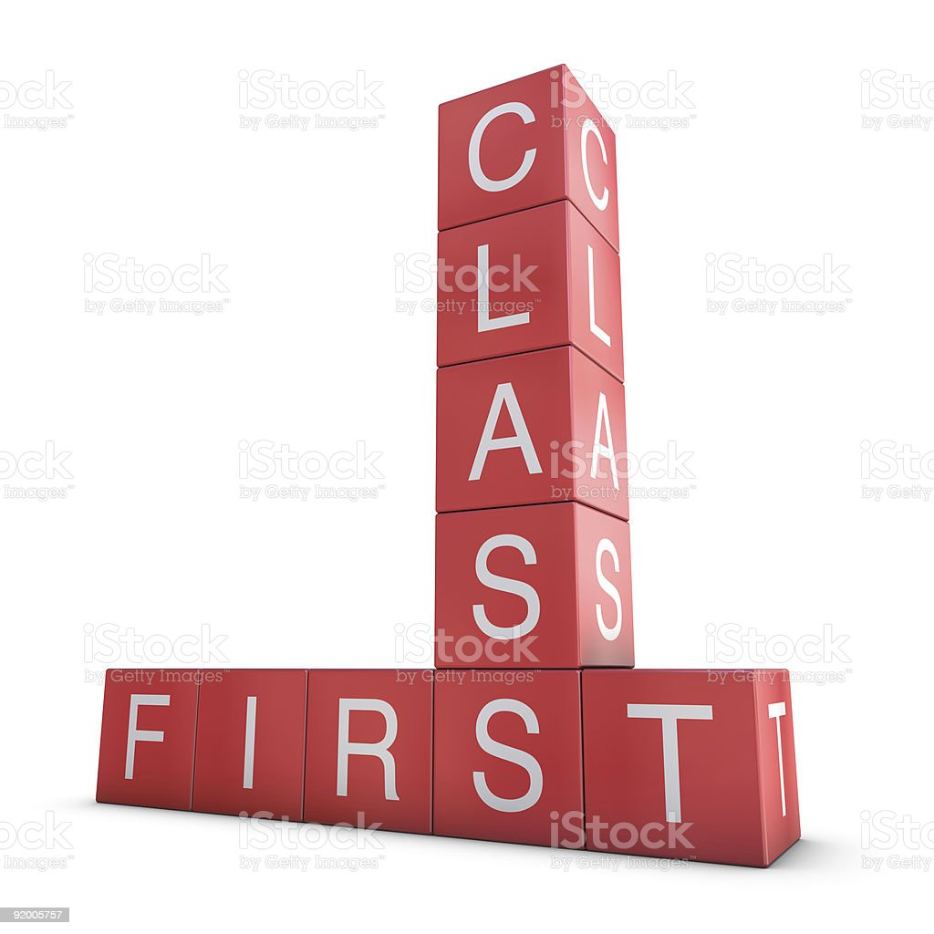 First class! royalty-free stock photo