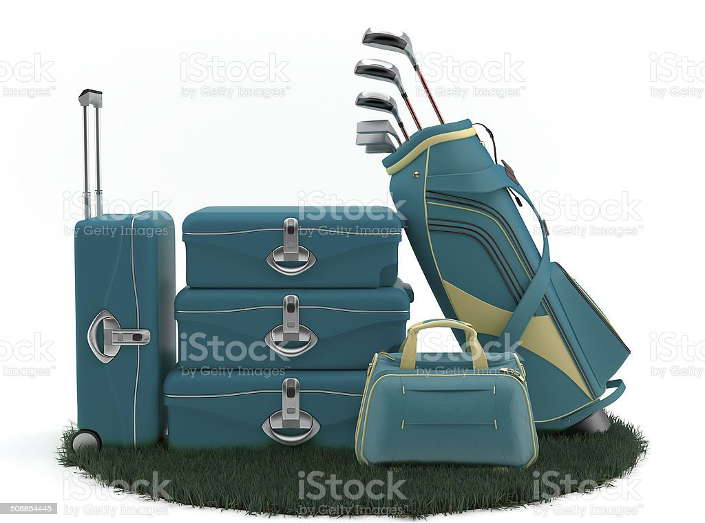 First class trip 5 starst - Golf course stock photo