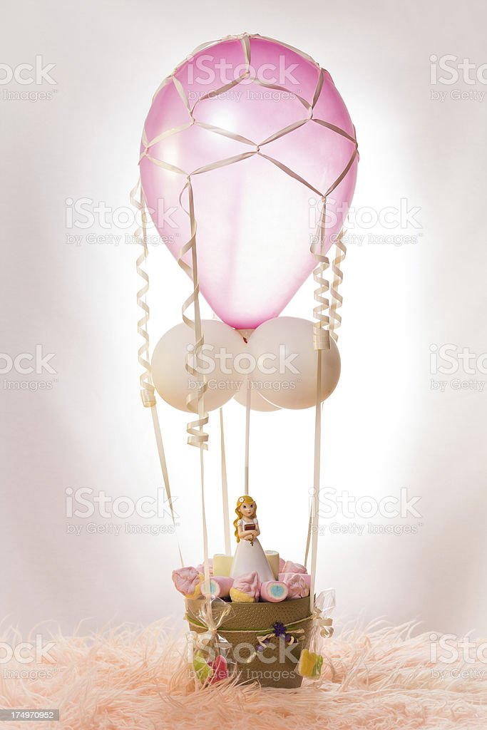 First Communion Balloon royalty-free stock photo
