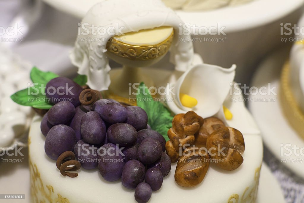 First Communion cake royalty-free stock photo