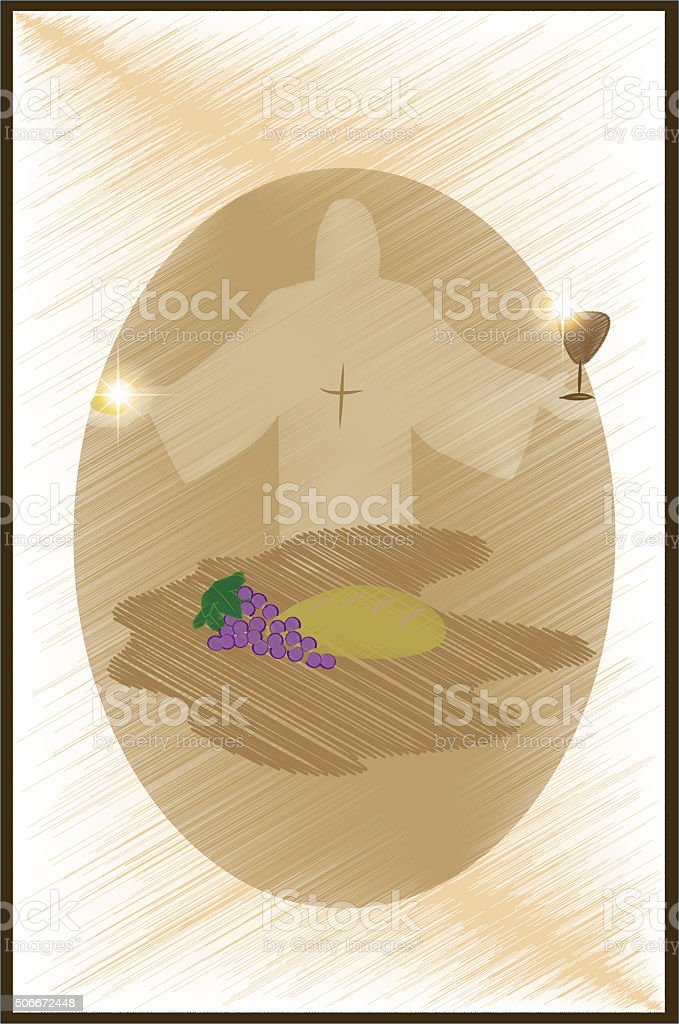first communion with jesus stock photo