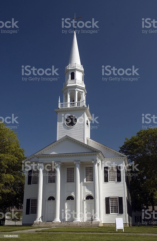 First Congregational Church stock photo