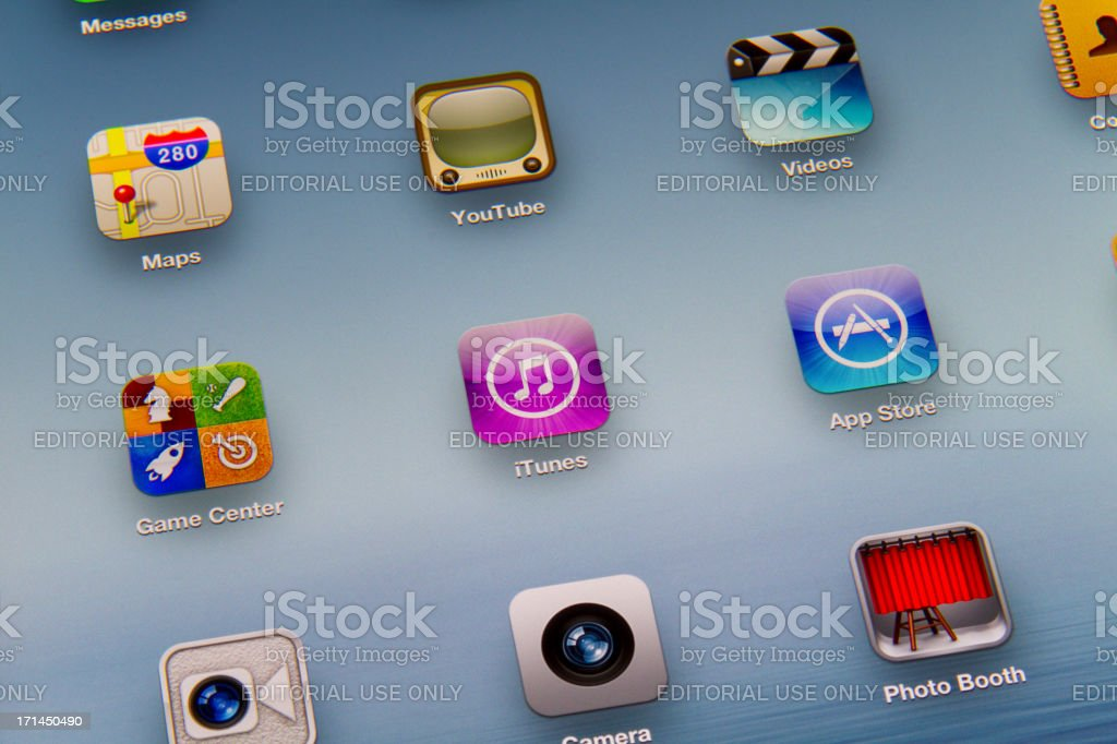 First connect of New iPad royalty-free stock photo