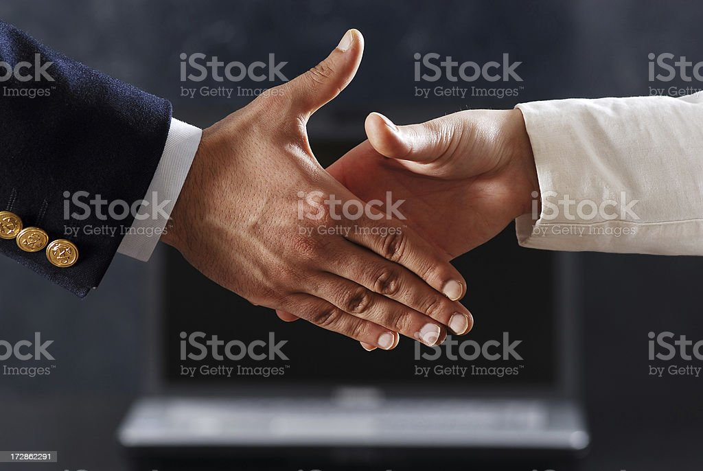 first connection royalty-free stock photo
