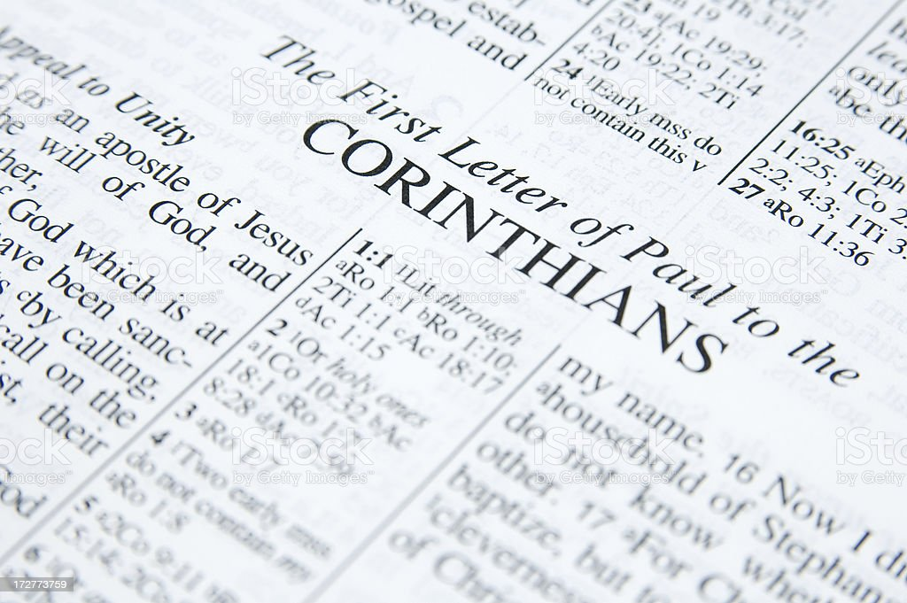 First Corinthians royalty-free stock photo
